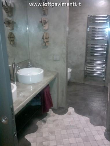 Pavimenti in cemento posa e manutenzione a milano e in lombardia liguria piemonte e veneto - Bagno cemento spatolato ...
